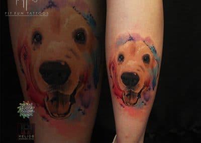 watercolor dog 2017