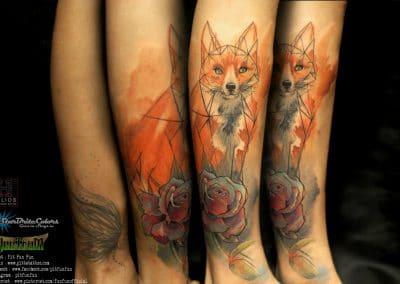 watercolor geometry fox 2016